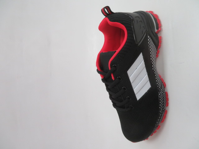Sportowe Damskie 1025, Black/Red, 36-41