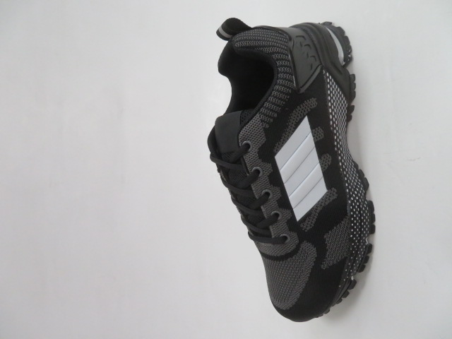 Sportowe Damskie 1025, Black/Grey, 36-41