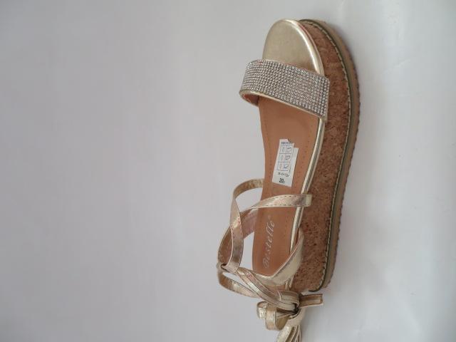 Sandały Damskie 680-43, Gold, 36-41
