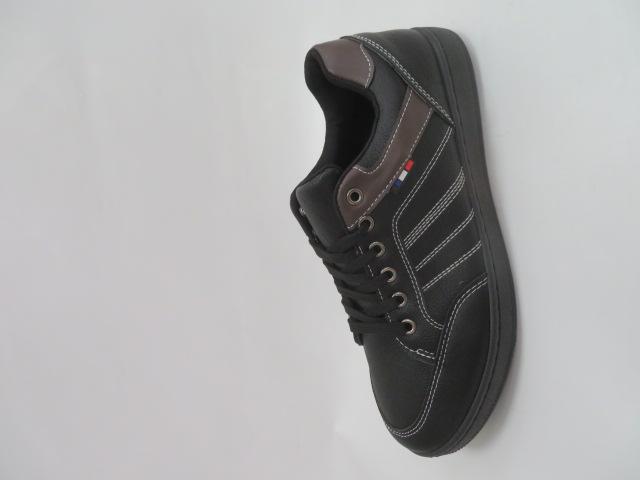 Trampki Męskie E602-11, Black, 41-46