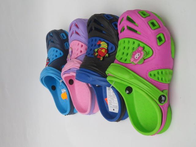 Klapki Dziecięce T818-3,  Mix 4 color, 30-35