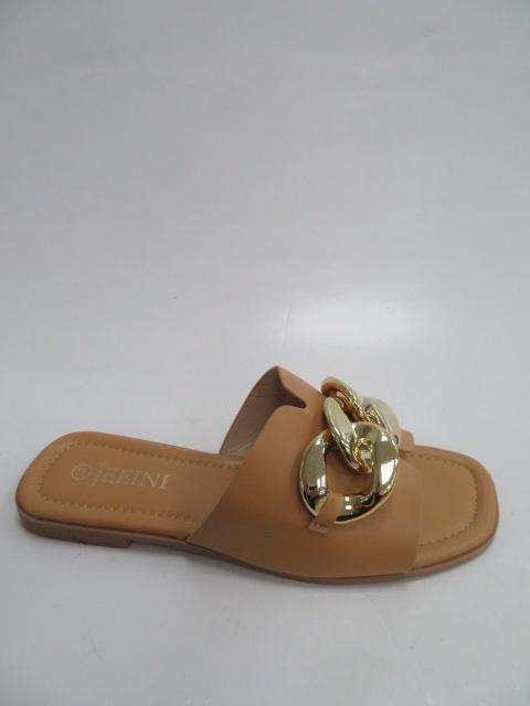 Klapki Damskie J377, Camel, 36-41