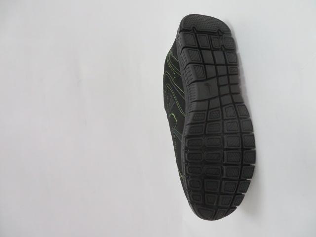 Buty Sportowe Męskie 6026A-4, Black/Green, 41-46 3