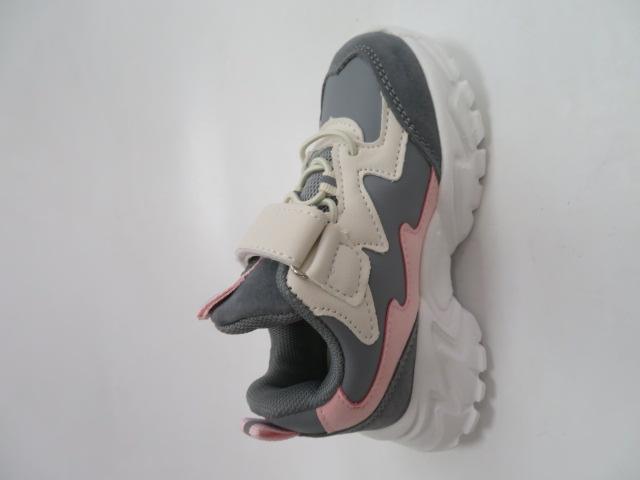 Buty Sportowe Dziecięce E67, Gray Pink, 26-31