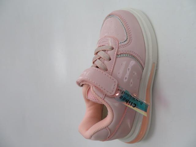 Buty Sportowe Dziecięce E82, White/Pink, 21-26