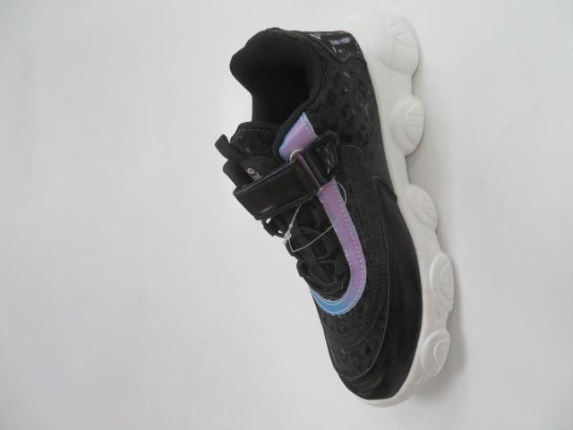 Buty Sportowe Dziecięce E61, Black/Silver, 31-36