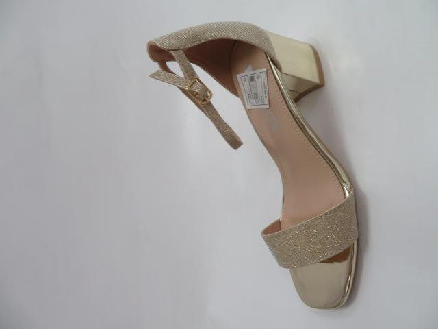 Sandały Damskie QL167, Gold, 36-41