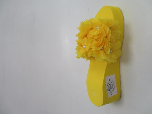 Klapki Damskie A-85, Yellow, 36-41