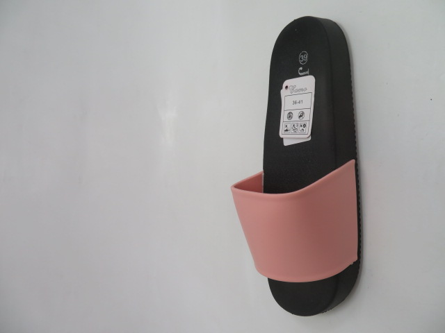 Klapki Damskie LS-37, Black/Pink , 36-41