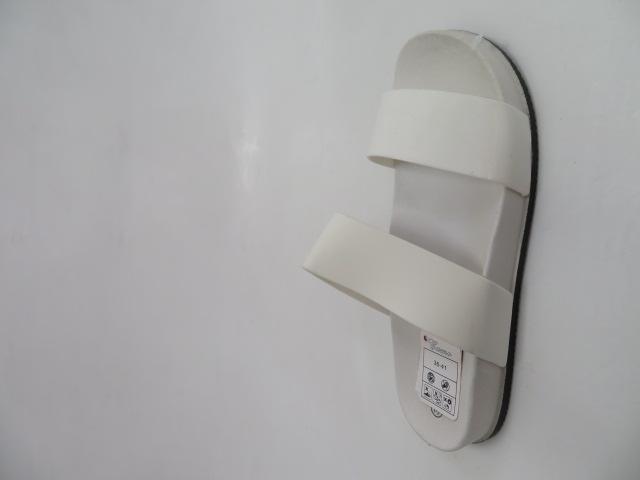 Klapki Damskie  6108, White, 36-41
