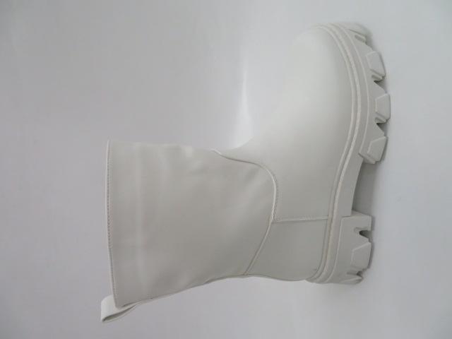 Botki Damskie 8388, White, 36-41