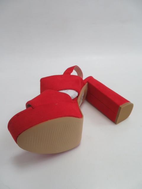 Czółenka Damskie 9R02, Red, 36-41