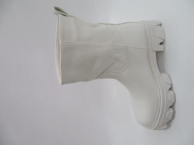 Botki Damskie 8388, White, 36-41 2