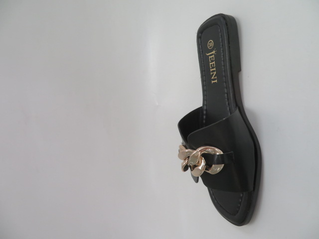 Klapki Damskie J377, Black, 36-41 2