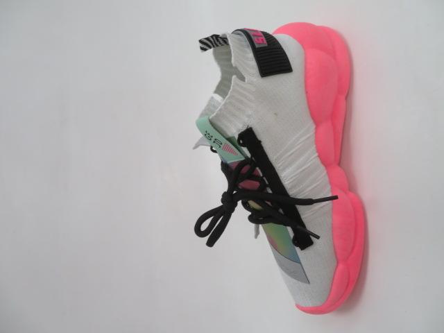 Sportowe Damskie LA69, White/Pink, 36-41