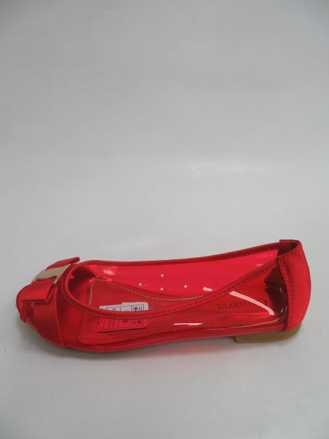Baleriny Damskie 588-11, Red, 36-41
