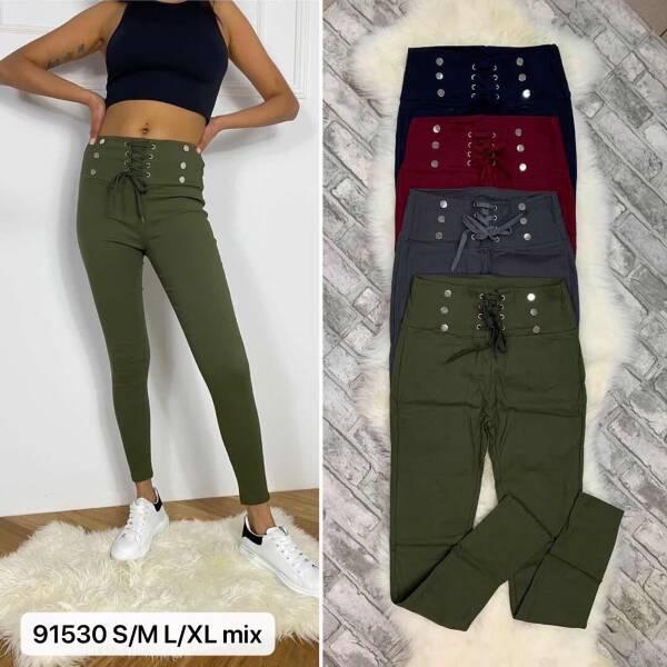 Spodnie Damskie 91530 MIX KOLOR S/M-L/XL