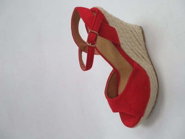 Czółenka Damskie A88, Red, 36-41