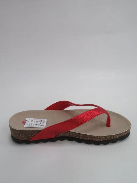 Japonki Damskie D 7635, Red, 36-41