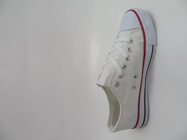 Trampki Damskie 608A-2, White/Red, 36-41 2