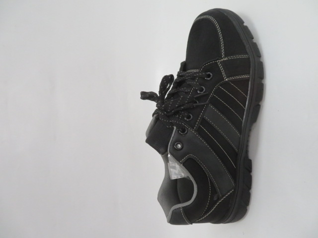 Buty Sportowe Męskie 702-23, Black/Grey, 40-46