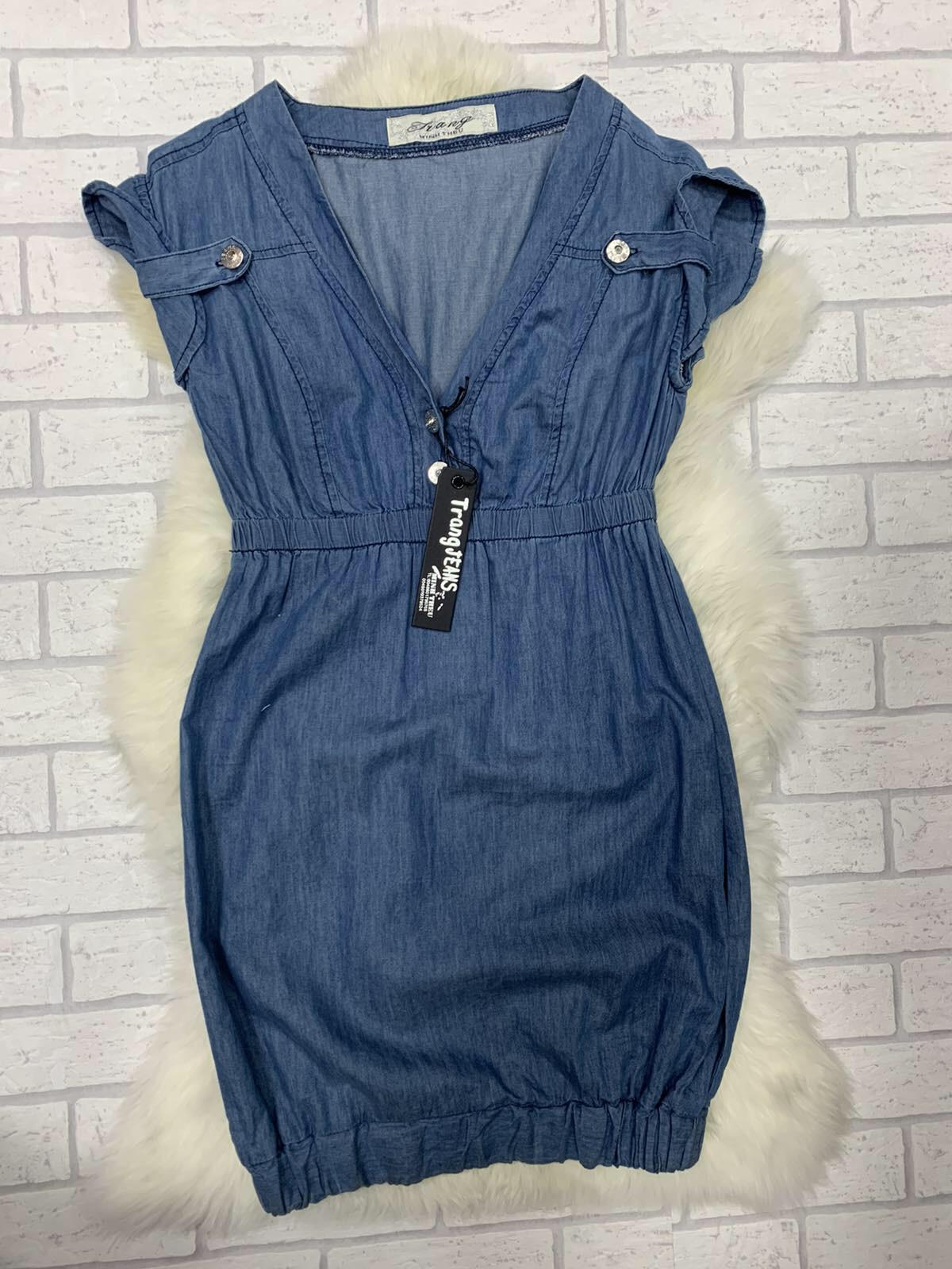 Sukienka Jeansowa  F9970 1 KOLOR 34-42