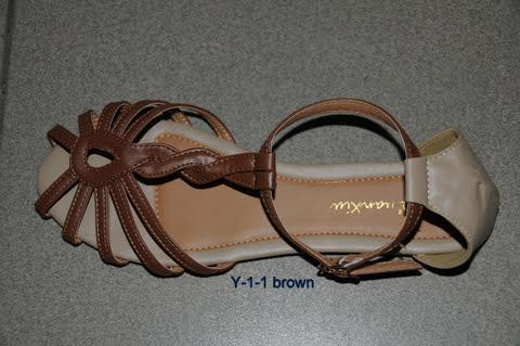 Sandały Damskie Y-1 BROWN 36-41