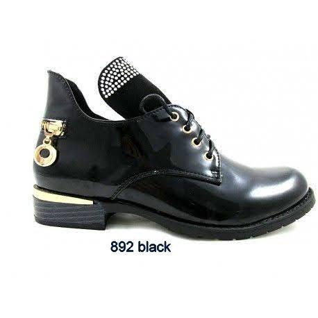 Półbuty Damskie 892 BLACK 36-41
