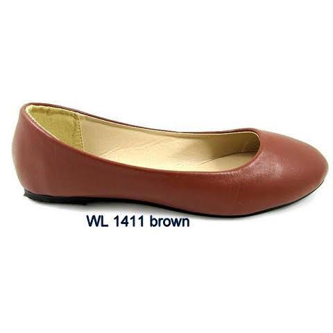 Baleriny Damskie WL1411, BROWN 36-41
