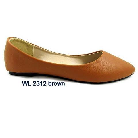 Baleriny Damskie WL2312 BROWN 36-41