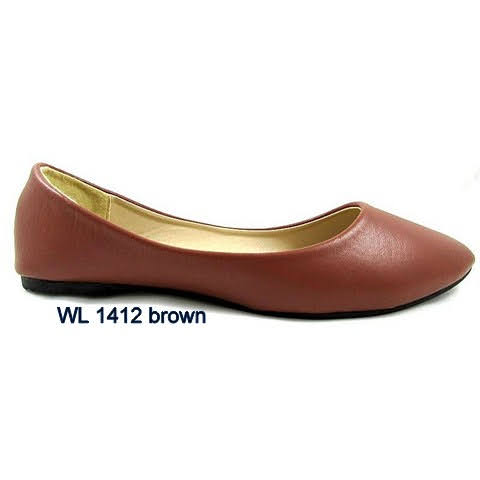 Baleriny Damskie WL1412 BROWN 36-41